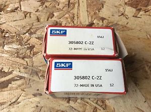 high temperature 2-SKF ,Bearings#305802 C-2 Z,30day warranty, free shipping lower 48!