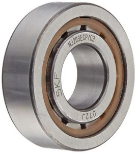 high temperature SKF NJ 203 ECP/C3 Cylindrical Roller Bearing, Single Row, Removable Inner Ring,