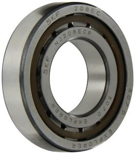 high temperature SKF NJ 208 ECP Cylindrical Roller Bearing, Removable Inner Ring, Flanged, High
