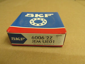 high temperature NIB SKF 60062Z BEARING DOUBLE METAL SHIELD 60062ZJEM 6006 2Z C3HT 30x55x13mm