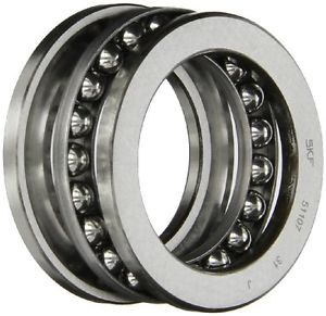 high temperature SKF 51107 Single Direction Thrust Bearing, 3 Piece, Grooved Race, 90° Contact