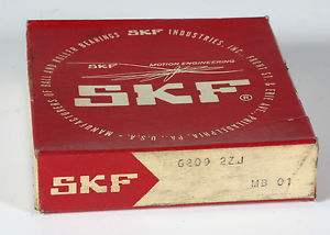 high temperature Bearing – SKF – Model 6209 2ZJ  Brand New
