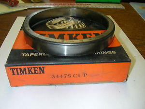 high temperature TIMKEN TAPERED ROLLER BEARING CUP 34478 NIB