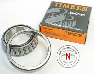 high temperature TIMKEN 32011XM 9/KM1 TAPERED ROLLER BEARING CUP & CONE SET 32011-XM
