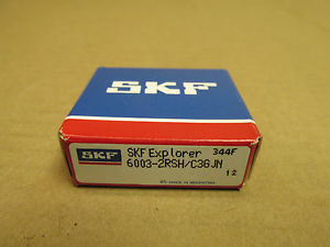 high temperature NIB SKF 6003 2RSH BEARING DOUBLE RUBBER SHIELD 60032RSH 6003 2RS C3 GJN 17x35x10
