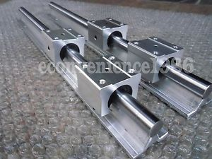 high temperature 2 Set SBR20-1625mm 20 MM FULLY SUPPORTED LINEAR RAIL SHAFT ROD with 4 SBR20UU