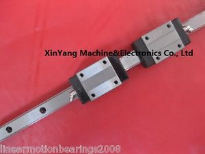 high temperature 2pcs Linear Rail profile guideway 20mm-1000mm + 4 bearing pillows carriages