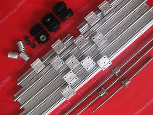 high temperature 3sets SBR16 rails+3 ballscrews RM1204+3sets BK/BF10 +3 couplers