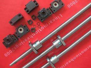 high temperature 3pcs anti backlash ballscrews RM2005–C7+3 set BK/BF15