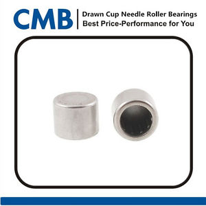 high temperature 2PCS BK0808 8x12x8mm Closed End Drawn Cup Needle Roller Bearing