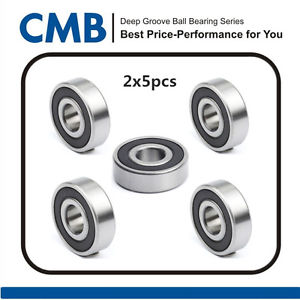 high temperature 10pcs 6301-2RS 6301 2rs Rubber Sealed Ball Bearing 12x37x12mm
