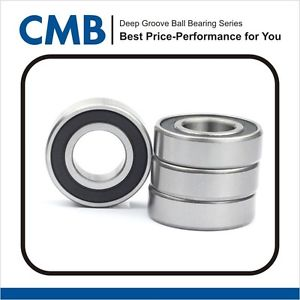 high temperature 4PCS 6203-10-2RS ( 6203-5/8 2RS ) rubber sealed bearing  15.875x40x12 mm