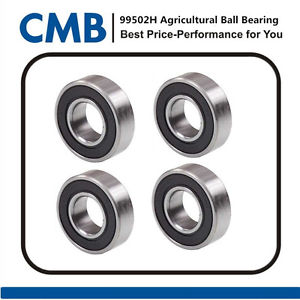 high temperature 4PCS 6203-2rs C3 EMQ Mower Spindle Bearing Rubber Sealed Bearings 17x40x12 mm