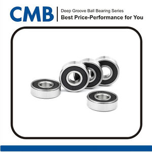 high temperature 5PCS 6301-2rs C3 Rubber Sealed Ball Bearing  12 x 37 x 12 mm