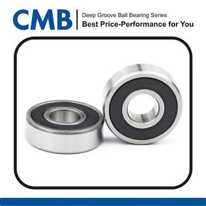 high temperature 4PCS 687-2RS Rubber Sealed Ball Bearing Miniature Ball Bearings 7x14x5 mm