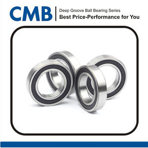 high temperature 4pcs 6906-2RS 6906 2rs Rubber Sealed Ball Bearing 30x47x9mm Brand New