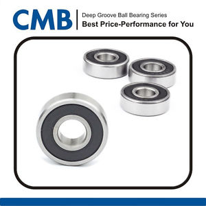 high temperature 4PCS 628-2RS Rubber Sealed Ball Bearing Miniature Bearing 628 2rs 8x24x8mm New