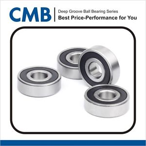 high temperature 4PCS 689-2RS Rubber Sealed Ball Bearing Miniature Ball Bearings 9x17x5 mm