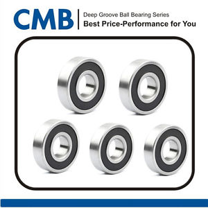 high temperature 5pcs 6304-2RS Deep Groove Rubber Sealed Ball Bearing 20 x 52 x 15mm