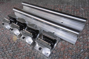 high temperature 2XTBR25-900mm 25MM FULLY SUPPORTED LINEAR RAIL SHAFT+ 4 TBR25UU Rounter Bearing