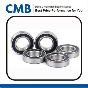 "high temperature 5pcs R16-2RS C3 Deep Groove Ball Bearing 1"" x 2"" x 1/2"""