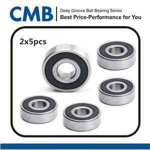 "high temperature 10pcs R16-2RS C3 Deep Groove Ball Bearing Rubber Sealed Bearing 1"" x 2"" x 1/2"""