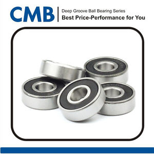 high temperature 100pcs 625-2RS Rubber Sealed Ball Bearing Bearings 5mm x 16mm x 5mm Brand New