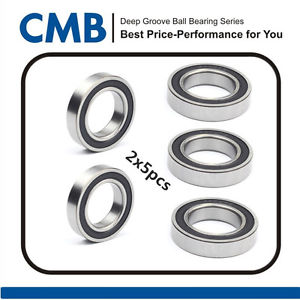 high temperature 10pcs 6908-2RS 6908 2RS Rubber Sealed Ball Bearing 40 x 62 x 12mm