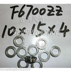 high temperature 10pcs F6700 10x15x4 Flanged 10*15*4 mm F6700Z Miniature bearings Bearing F6700ZZ