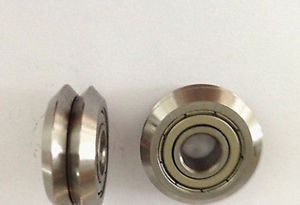 high temperature 12pcs  RM1ZZ 3/16'' 4.763*19.56*7.87mm V Groove Sealed Ball vgroove Bearing