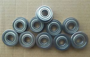 high temperature 10pcs MF52zz Shielded Flanged Model Ball Flange Bearing 2 x 5 x 2.5mm