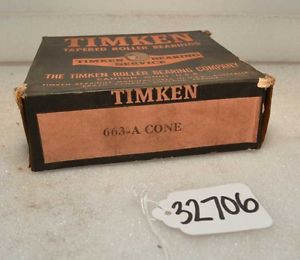 high temperature Timken 663A Tapered Roller Bearing (Inv.32706)