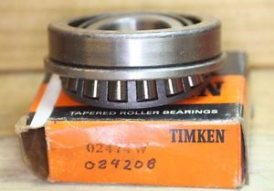 high temperature TIMKEN BEARING SET 02474W CONE & 02420B CUP opened