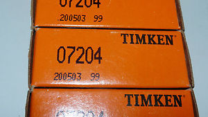 high temperature Timken 07204 Tapered Roller Bearing Cup Race Made in USA