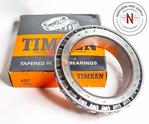 "high temperature TIMKEN 497 TAPERED ROLLER BEARING CONE,  ID: 3.375"", W: 1.172"""