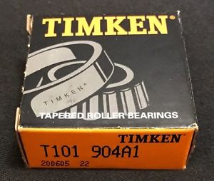 high temperature Timken T101 904A1 Tapered Roller Bearing UPC 053893935027 200605 22 NIB/NOS