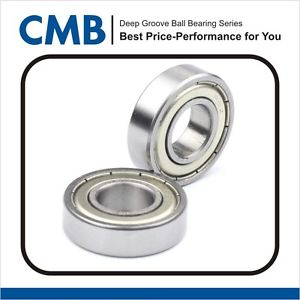 "high temperature 2 PCS R8ZZ R8-ZZ (1/2"" x 1-1/8"" x 5/16"") Double Metal Shielded Ball Bearing New"