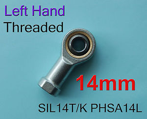 high temperature Freeship 2pcs Left H Threaded 14mm SIL14T/K PHSA14L Female Rod End Joint Bearing