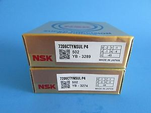 high temperature NSK7206CTYNSUL P4 ABEC7 Super Precision Contact Spindle Bearing (Matched Pair)