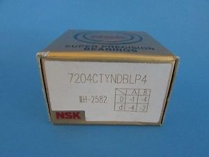 high temperature Set of Two NSK7204CTYNDBL P4 ABEC- 7 Super Precision Spindle Bearings