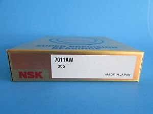 high temperature  NSK7011AW Angular Contact  Bearing 55mmX90mmX18mm