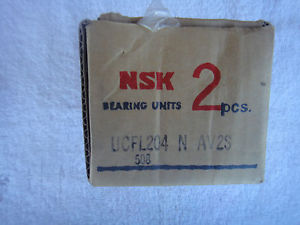 high temperature NIB  NSK Bearing Units 2pcs       UCFL204          UCFL204 N AV2S