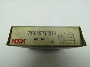 high temperature NSK  7916A5TYDULP4 7916A5TY DUL P4 Precision Bearing Set of 2
