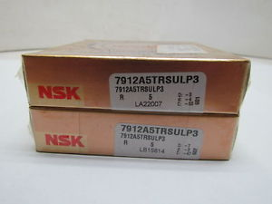 high temperature NSK 7912A5TRSULP3 7912A5TR DUL P3 Super Precision Bearings Set of 2