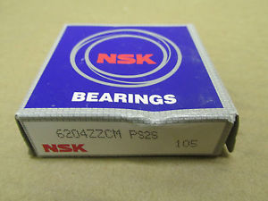 high temperature 1 NIB NSK 6204ZZCM BEARING METAL SHIELD BOTH SIDES 6204 Z ZZ ZZCM 6204Z 6204ZZ