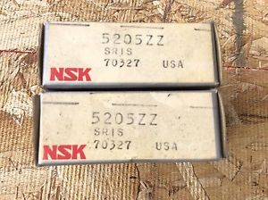 high temperature 2-NSK ,Bearings, Cat#5205ZZ ,comes w/30day warranty, free shipping