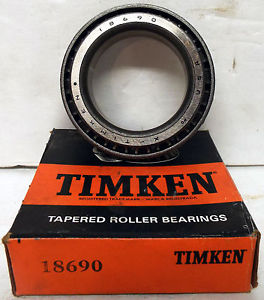 high temperature 1  TIMKEN 18690 SINGLE CONE TAPERED ROLLER BEARING