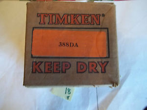 high temperature TIMKEN 388DA ROLLER BEARING TAPERED CONE (WL9)