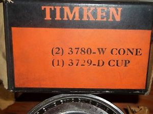 high temperature  TIMKEN SET  1-3729-D Cup & 2- 3780-W CONE SET