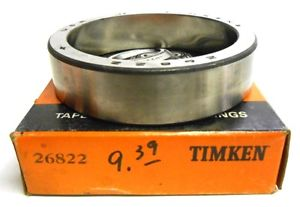 high temperature TIMKEN TAPERED ROLLER BEARING, 26822, NIB, NOS